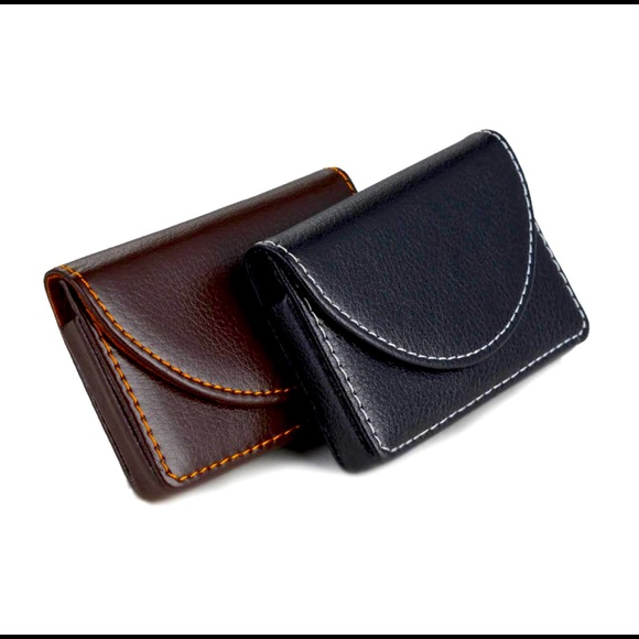 Leather Business Card Holder,Case for Men or Women